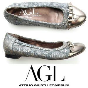 AGL Attilio Giusti Leombruni Cap Toe Ballet Flat